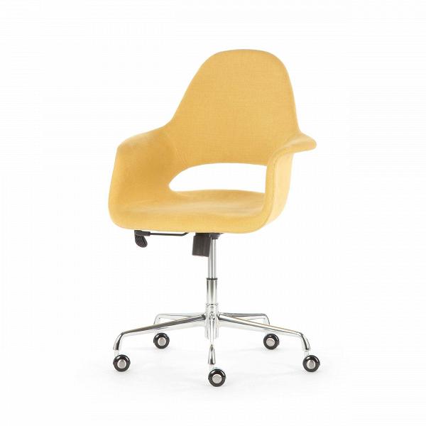 Кресло Organic RollОфисные<br>Кресло Organic Roll – это яркое изделие, которое привнесет в любой интерьер хорошее настроение и освежит его позитивными красками. Изделие не только красиво, но и удобно. Спинка и сиденье кресла обладают анатомической формой, что, безусловно, поможет сохранить красивую осанку и позволит вам работать или отдыхать без напряжения.<br><br><br> Organic Roll – это отличное сочетание красоты и высокого качества. Обивка сиденья изготавливается из экологичной ткани, которая соткана из хлопка и льна. Кон...<br><br>stock: 0<br>Высота: 100<br>Высота сиденья: 50<br>Ширина: 62,5<br>Глубина: 61<br>Цвет ножек: Хром<br>Механизмы: Регулировка высоты<br>Материал ножек: Сталь нержавеющая<br>Материал обивки: Ткань<br>Цвет обивки: Желтый