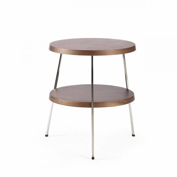 Кофейный стол Two TopКофейные столики<br>Кофейный стол — необязательный, но весьма желательный предмет мебели, который поможет дополнить или завершить интерьер любой гостиной комнаты. Он оказывает большое влияние на атмосферу помещения, дополняя его своей функциональностью и удобством.В<br><br><br> Кофейный стол Two Top, разработанный американским дизайнером Шоном Диксом, имеет необычный дизайн и удивительно удобен в использовании за счет своих двух поверхностей. Мебель Шона Дикса минималистична иВинтеллектуальна, прекрасно ...<br><br>stock: 0<br>Высота: 53,5<br>Ширина: 50,5<br>Длина: 51,4<br>Цвет ножек: Хром<br>Цвет столешницы: Орех американский<br>Материал столешницы: Фанера, шпон ореха<br>Тип материала столешницы: Фанера<br>Тип материала ножек: Сталь нержавеющая<br>Дизайнер: Sean Dix