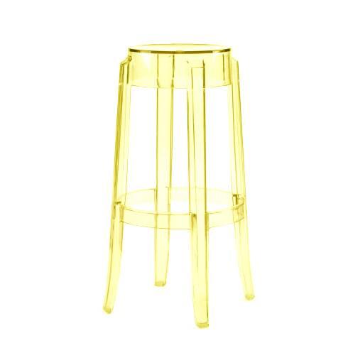 Барный стул Charles GhostБарные<br>Дизайнерский барный стул Charles Ghost (Чарльз Гост) из пластика без спинки от Cosmo (Космо). <br><br> Charles GhostВ— это прозрачные барные стулья сВочень привлекательным дизайном. Слегка изогнутые округлые ножки напоминают форму мебели 1800-х годов. Особый облик элегантных линий Charles GhostВ— это моноблок изВпрозрачного поликарбоната, который неВподдается разрушению иВможет использоваться вВлюбом месте.<br><br><br> Оригинальные барные стулья Charles Ghost выполне...<br><br>stock: 0<br>Высота: 75<br>Диаметр: 37<br>Материал каркаса: Поликарбонат<br>Тип материала каркаса: Пластик<br>Цвет каркаса: Желтый<br>Дизайнер: Philippe Starck