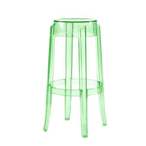 Барный стул Charles GhostБарные<br>Дизайнерский барный стул Charles Ghost (Чарльз Гост) из пластика без спинки от Cosmo (Космо). <br><br> Charles GhostВ— это прозрачные барные стулья сВочень привлекательным дизайном. Слегка изогнутые округлые ножки напоминают форму мебели 1800-х годов. Особый облик элегантных линий Charles GhostВ— это моноблок изВпрозрачного поликарбоната, который неВподдается разрушению иВможет использоваться вВлюбом месте.<br><br><br> Оригинальные барные стулья Charles Ghost выполне...<br><br>stock: 0<br>Высота: 75<br>Диаметр: 37<br>Материал каркаса: Поликарбонат<br>Тип материала каркаса: Пластик<br>Цвет каркаса: Зеленый<br>Дизайнер: Philippe Starck