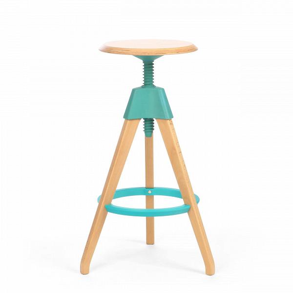 Барный стул JerryБарные<br>Дизайнерский светло-коричневый деревянный барный стул Jerry (Джерри) с цветным каркасом от Cosmo (Космо). <br><br> Игривый и легкий оригинальный барный стул Jerry — это натуральное дерево в комплекте с прочным пластиком. Винтовой механизм, укрепленный под аккуратным сиденьем, позволяет регулировать высоту стула. Устойчивые ножки, выполненные из бука, гармонируют с колористическим решением конструктивных деталей.<br><br><br> Применение такой мебели довольно широко, начиная от скандинавского натурализм...<br><br>stock: 0<br>Высота: 76<br>Высота сиденья: 68-76<br>Диаметр: 45<br>Цвет ножек: Светло-коричневый<br>Материал ножек: Массив бука<br>Тип материала каркаса: Полипропилен<br>Материал сидения: Массив бука<br>Цвет сидения: Светло-коричневый<br>Тип материала сидения: Дерево<br>Тип материала ножек: Дерево<br>Цвет каркаса: Бирюзовый<br>Дизайнер: Konstantin Grcic