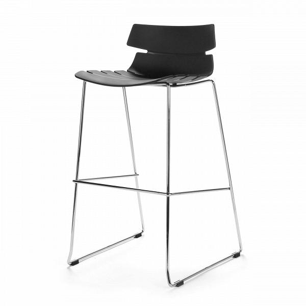 Барный стул TechnoБарные<br>Дизайнерский легкий барный стул Techno (Техно) из полипропилена на стальных ножках от Cosmo (Космо). <br><br> Барный стул Techno — это своего рода интерпретация многофункциональных стульев-раковин. Однако дизайнер ушел от прямого сходства с морской фауной и оставил лишь часть оригинальной задумки, чтобы в конечном виде изделие подходило под большее количество интерьеров.<br> <br> Этот высокий оригинальный стул можно расположить за барной стойкой или столешницей в стиле хай-тек или техно. Сделанный из...<br><br>stock: 2<br>Высота: 97<br>Высота сиденья: 76<br>Ширина: 50<br>Глубина: 59<br>Цвет ножек: Хром<br>Цвет сидения: Черный<br>Тип материала сидения: Полипропилен<br>Тип материала ножек: Сталь нержавеющая
