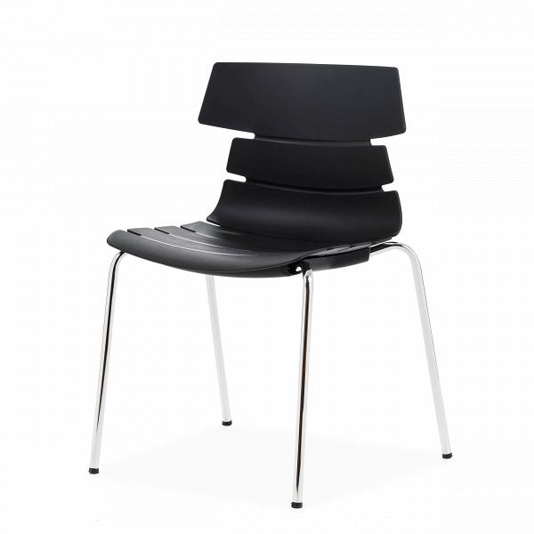 Стул BreakoutИнтерьерные<br>Дизайнерский креативный минималистичный пластиковый стул Breakout (Брэкаут) на тонких металлических ножках от Cosmo (Космо).<br><br>     С одной стороны, стул Breakout — прямой наследник минималистической традиции, которая не терпит излишеств и отсекает все лишнее в пользу функциональности и чистоты линий. С другой — необычная форма стула, напоминающая хребет неизвестного животного, расширяет возможности его использования в интерьерах различных стилей.<br><br><br>     Благодаря своей компактности, легк...<br><br>stock: 28<br>Высота: 81<br>Высота сиденья: 45<br>Ширина: 51<br>Глубина: 58<br>Цвет ножек: Хром<br>Цвет сидения: Черный<br>Тип материала сидения: Полипропилен<br>Тип материала ножек: Сталь нержавеющая