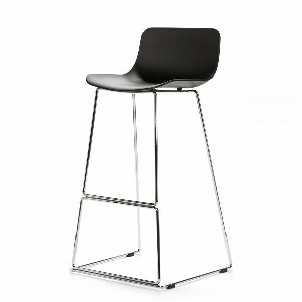 Барный стул NeoБарные<br>Дизайнерский высокий барный стул Neo (Нео) на стальных ножках от Cosmo (Космо). <br><br> Дополните свой интерьер элегантным барным стулом Neo, который идеально подойдет для минималистического дизайна в современном исполнении или помещений в стиле техно, где приветствуется металл и пластик. Утонченный высокий каркас из нержавеющей стали с подставкой для ног и антискользящими насадками надежно удерживает эргономичное сиденье. Его мягкие формы плавно переходят в невысокую спинку, создавая комфортны...<br><br>stock: 20<br>Высота: 100<br>Ширина: 48<br>Глубина: 49<br>Цвет ножек: Хром<br>Цвет сидения: Черный<br>Тип материала сидения: Полипропилен<br>Тип материала ножек: Сталь нержавеющая<br>Дизайнер: Fredrik Mattson