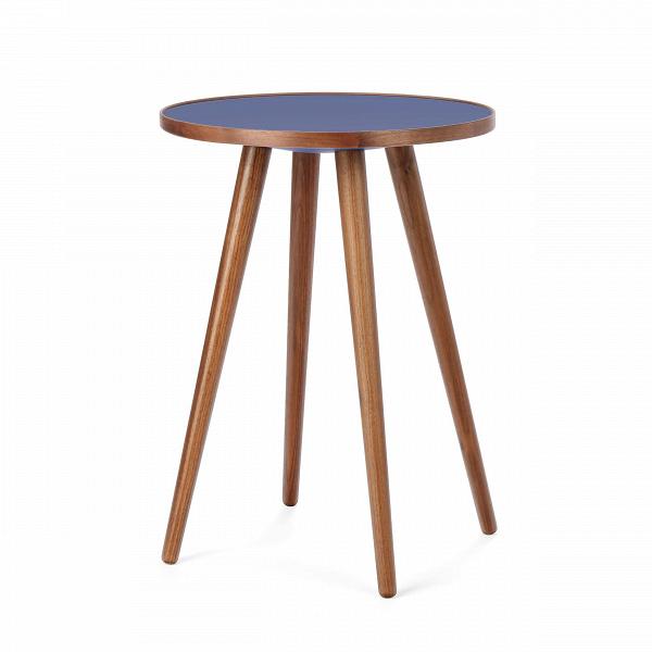 Кофейный стол Sputnik высота 55 диаметр 41Кофейные столики<br>Дизайнерский кофейный стол Sputnik (Спутник) (высота 55 диаметр 41) с пластиковой столешницей на четырех ножках от Cosmo (Космо).<br><br><br> Кофейный стол Sputnik высота 55 диаметр 41 имеет четыре длинные устойчивые ножки и небольшую круглую столешницу. Его разработал американский дизайнер и архитектор мирового уровня Шон Дикс. Столик сделан из качественной древесины американского ореха, что делает его достаточно прочнымВ и долговечным. СтолешницаВ покрыта меламином, благодаря чему уст...<br><br>stock: 0<br>Высота: 55<br>Диаметр: 40,6<br>Цвет ножек: Орех американский<br>Цвет столешницы: Синий<br>Материал ножек: Дерево<br>Материал столешницы: Пластик<br>Дизайнер: Sean Dix