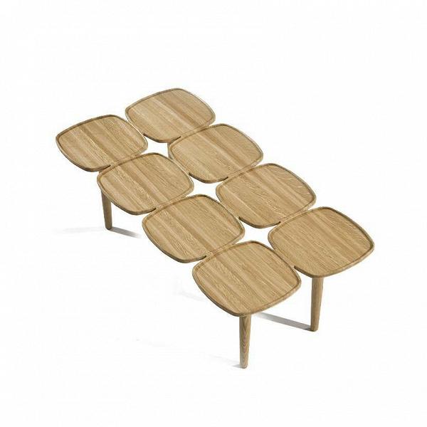 Кофейный стол Petal-8Кофейные столики<br>Кофейные столики уже давно вошли в нашу жизнь благодаря своей невероятной функциональности и стильному дизайну. Они играют немаловажную роль не только в интерьере, но и в вашем самоощущении, ведь именно кофейный столик помогает создать комфорт и настроение за чашечкой чая или кофе.<br><br><br> Здесь представлен весьма необычный кофейный стол Petal-8 от американского дизайнера с мировым именем Шона Дикса. Оригинальный дизайн стола привлекает внимание и дополняет обстановку комнаты своим стильны...<br><br>stock: 0<br>Высота: 34<br>Ширина: 100<br>Диаметр: 50<br>Цвет ножек: Светло-коричневый<br>Цвет столешницы: Светло-коричневый<br>Материал ножек: Массив дуба<br>Материал столешницы: Массив дуба<br>Дизайнер: Sean Dix