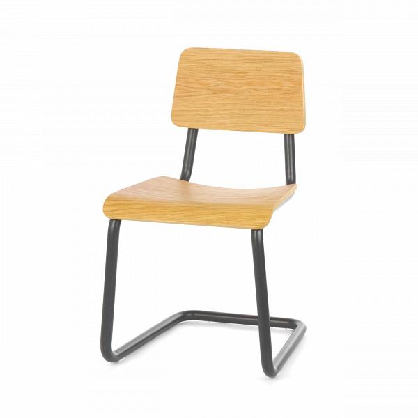 Стул CantileverИнтерьерные<br><br><br>stock: 11<br>Высота: 78<br>Высота сиденья: 44.5<br>Ширина: 45.5<br>Глубина: 53<br>Тип материала каркаса: Сталь<br>Материал сидения: Фанера, шпон дуба<br>Цвет сидения: Дуб<br>Тип материала сидения: Дерево<br>Цвет каркаса: Темно-серый матовый<br>Дизайнер: Sean Dix