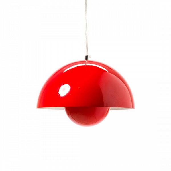 Подвесной светильник Flower Pot диаметр 38Подвесные<br>ИзВвсех произведений Вернера Пантона цветные подвесные светильники Flower Pot диаметр 38 выделяются невероятно простым и вВтоВже время привлекательным дизайном. Плафон светильника состоит из двух полусфер, одна в другой, что делает его похожим на детскую игрушку — с одной стороны. С другой — гармоничная форма смотрится очень стильно, особенно если вы выберете черный или белый вариант.<br><br><br> Дизайн светильника от знаменитого Вернера Пантона родился в 1968 году, в эпоху акти...<br><br>stock: 0<br>Высота: 180<br>Диаметр: 38<br>Количество ламп: 1<br>Материал абажура: Алюминий<br>Мощность лампы: 60<br>Ламп в комплекте: Нет<br>Напряжение: 220<br>Тип лампы/цоколь: E27<br>Цвет абажура: Красный<br>Дизайнер: Verner Panton