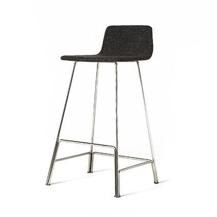 Барный стул RodБарные<br>Барный стул Rod привлекает внимание своим утонченным стилем и едва заметной ноткой роскоши. Дизайнерские барные стулья способны стать настоящим украшением кухонного интерьера. Работа была создана ведущим американским дизайнером Шоном Диксом. Художник высоко ставит практичность и простоту в интерьере и в то же время ценит хорошие визуальные данные. Барный стул Rod обладает всеми этими чертами и гармонично смотрится в любом современном интерьере.<br><br><br> Обивка сиденья и спинки стула изготовл...<br><br>stock: 0<br>Высота: 91<br>Высота сиденья: 75<br>Ширина: 48,4<br>Глубина: 45,8<br>Цвет ножек: Хром<br>Материал сидения: Хлопок, Лен<br>Цвет сидения: Черный<br>Тип материала сидения: Ткань<br>Коллекция ткани: Ray Fabric<br>Тип материала ножек: Сталь нержавеющая<br>Дизайнер: Sean Dix