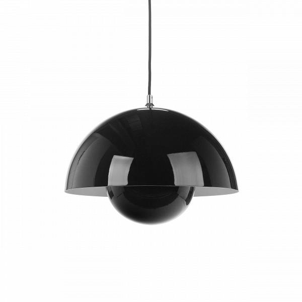 Подвесной светильник Flower Pot диаметр 38Подвесные<br>ИзВвсех произведений Вернера Пантона цветные подвесные светильники Flower Pot диаметр 38 выделяются невероятно простым и вВтоВже время привлекательным дизайном. Плафон светильника состоит из двух полусфер, одна в другой, что делает его похожим на детскую игрушку — с одной стороны. С другой — гармоничная форма смотрится очень стильно, особенно если вы выберете черный или белый вариант.<br><br><br> Дизайн светильника от знаменитого Вернера Пантона родился в 1968 году, в эпоху акти...<br><br>stock: 9<br>Высота: 180<br>Диаметр: 38<br>Количество ламп: 1<br>Материал абажура: Алюминий<br>Мощность лампы: 60<br>Ламп в комплекте: Нет<br>Напряжение: 220<br>Тип лампы/цоколь: E27<br>Цвет абажура: Черный<br>Дизайнер: Verner Panton