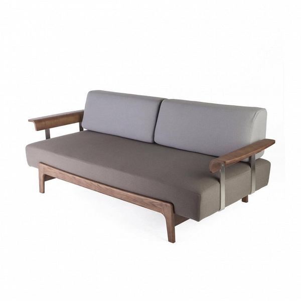 Диван CasatuaТрехместные<br>Диван Casatua — прекрасное дополнение к уютному домашнему интерьеру. Название дивана в переводе с итальянского означает «ваш дом». Изделие прекрасно впишется в уютную обстановку квартиры или дома. Оно обладает внушительными размерами и глубоким сиденьем, что позволяет расположиться на нем с максимальным комфортом. Диван создал американский дизайнер Шон Дикс. Мастер сделал его не только комфортным, но и по-современному стильным — он легко сможет вписаться в большинство современных стилевых...<br><br>stock: 0<br>Высота: 75<br>Высота сиденья: 39<br>Глубина: 97<br>Длина: 220<br>Цвет подлокотников: Хром<br>Материал каркаса: Массив ореха<br>Материал обивки: Шерсть, Нейлон<br>Цвет обивки дополнительный: Серый<br>Материал подлокотников: Сталь нержавеющая<br>Тип материала каркаса: Дерево<br>Коллекция ткани: T Fabric<br>Тип материала обивки: Ткань<br>Цвет обивки: Коричневый<br>Цвет каркаса: Орех<br>Дизайнер: Sean Dix