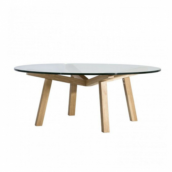 Кофейный стол Forte круглый диаметр 90Кофейные столики<br>Практичный и уютный, скандинавский стиль давно полюбился многим современным дизайнерам. Кофейный стол Forte круглый диаметр 90 – это воплощение главных основ этого стиля. Американский дизайнер Шон Дикс сделал свое творение светлым и универсальным, благодаря чему Forte может использоваться для самых разных нужд.<br><br><br> Кофейный стол Forte круглый диаметр 90 сделан из лучших природных материалов. Конструкция ножек изготовлена из натуральной древесины и обладает естественным светлым цветом и ...<br><br>stock: 0<br>Высота: 41,5<br>Диаметр: 90<br>Цвет ножек: Дуб<br>Цвет столешницы: Прозрачный<br>Материал ножек: Массив дуба<br>Тип материала столешницы: Стекло закаленное<br>Тип материала ножек: Дерево<br>Дизайнер: Sean Dix