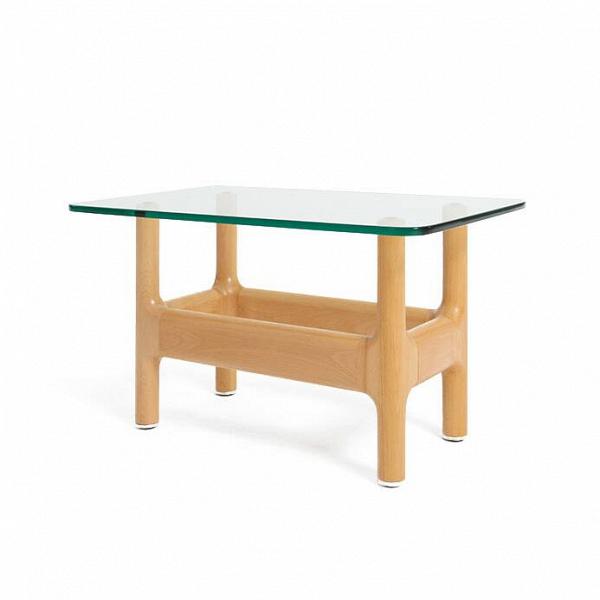 Кофейный стол AitchКофейные столики<br>Скандинавский стиль в интерьере поражает своим разнообразием: можно встретить самые разные сочетания цветов и форм и все они будут красиво гармонировать друг с другом. Главное в этом стиле – большое количество света и пространства, простые формы и максимальная практичность всех элементов. Именно таким американский дизайнер Шон Дикс сделал свое творение – кофейный стол Aitch отличается интересным лаконичным оформлением и светлыми цветами.<br><br><br> Кофейный стол Aitch изготовлен из лучших мате...<br><br>stock: 0<br>Высота: 47<br>Ширина: 50<br>Длина: 80<br>Цвет ножек: Светло-коричневый<br>Цвет столешницы: Прозрачный<br>Материал ножек: Массив дуба<br>Тип материала столешницы: Стекло закаленное<br>Тип материала ножек: Дерево<br>Дизайнер: Sean Dix