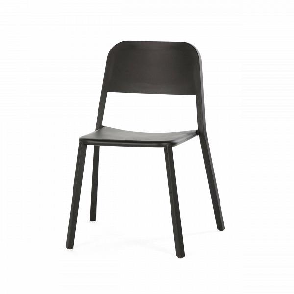 Стул Cosimo с закрытой спинкойИнтерьерные<br><br><br>stock: 1<br>Высота: 78<br>Высота сиденья: 45<br>Ширина: 48<br>Глубина: 48<br>Тип материала каркаса: Сталь нержавеющя<br>Цвет каркаса: Черный<br>Дизайнер: Sean Dix