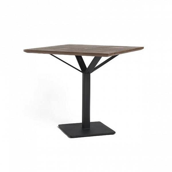 Обеденный стол RoninОбеденные<br>Обеденный стол Ronin сконструирован знаменитым американским дизайнером Шоном Диксом. В работе сразу виден почерк ее автора – минимум деталей, интересная лаконичная конструкция и максимальная функциональность.<br><br><br> Обеденный стол Ronin имеет небольшие размеры, за счет чего подойдет даже для небольших помещений. Особая конструкция стальной ножки прочно и устойчиво удерживает квадратную столешницу. Сама столешница изготовлена из экологически чистого, плотного и прочного материала МДФ и покры...<br><br>stock: 0<br>Высота: 75,5<br>Ширина: 80<br>Длина: 80<br>Цвет ножек: Черный<br>Цвет столешницы: Орех американский<br>Материал столешницы: МДФ, шпон ореха<br>Тип материала столешницы: МДФ<br>Тип материала ножек: Сталь<br>Дизайнер: Sean Dix