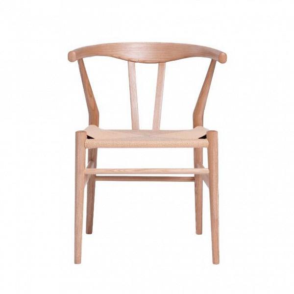 Стул Wishbone дубовыйИнтерьерные<br>Стул Wishbone дубовый был разработан вВ1949 году передовым датским дизайнером мебели Хансом Вегнером. Стул Wishbone был создан под впечатлением отВпросмотра классических портретов датских торговцев, сидящих наВкитайских стульях династии Мин. Свое название стул Wishbone («вилка») получил заВспецифическую форму спинки сиденья.<br><br><br> Также известный как CH24, стул Wishbone дубовый широко используется при оформлении, например, столовых, аВтакже прочих помещений, легко...<br><br>stock: 0<br>Высота: 73,5<br>Высота сиденья: 43,5<br>Ширина: 54<br>Глубина: 51,5<br>Материал каркаса: Массив дуба<br>Тип материала каркаса: Дерево<br>Цвет сидения: Бежевый<br>Тип материала сидения: Корд бумажный<br>Цвет каркаса: Дуб<br>Дизайнер: Hans Wegner
