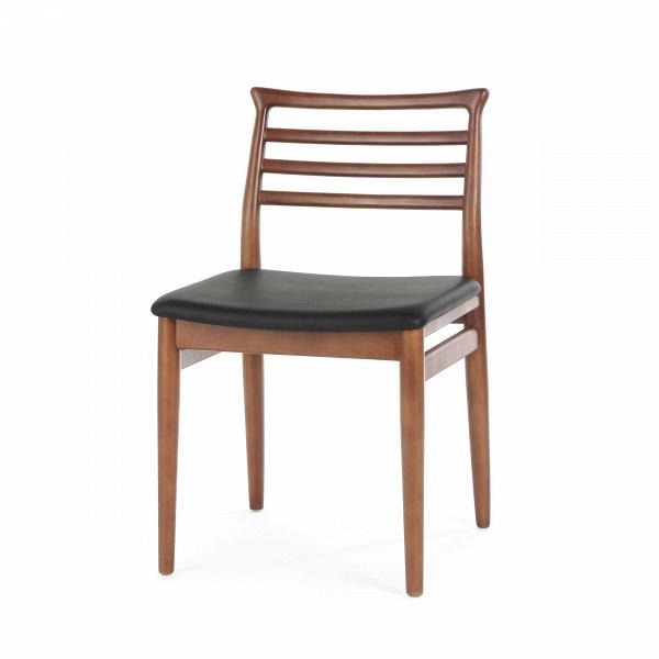 Стул HanneИнтерьерные<br>Замечали ли вы, как сильно влияет дизайн стульев на общий дизайн комнаты? Правильно подобранный набор стульев способен сделать помещение более приветливым и дружелюбным. Стул Hanne обладает именно таким дизайном. Это привлекательное изделие будет отличным функциональным приложением для любого интерьера и сделает его более открытым и теплым.<br><br><br> Основа данной модели стула — это каркас из массива орехового дерева. Его древесина славится своей прочностью и необыкновенно красивыми декорати...<br><br>stock: 0<br>Высота: 79<br>Высота сиденья: 46<br>Ширина: 46<br>Глубина: 53<br>Материал каркаса: Массив ореха<br>Тип материала каркаса: Дерево<br>Цвет сидения: Черный<br>Тип материала сидения: Кожа<br>Коллекция ткани: Standart Leather<br>Цвет каркаса: Орех