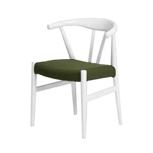 Стул Dq10Интерьерные<br><br><br>stock: 0<br>Высота: 73,5<br>Высота сиденья: 43<br>Ширина: 54<br>Глубина: 51,5<br>Материал каркаса: Массив дуба<br>Тип материала каркаса: Дерево<br>Материал сидения: Хлопок, Лен<br>Цвет сидения: Зеленый<br>Тип материала сидения: Ткань<br>Коллекция ткани: Ray Fabric<br>Цвет каркаса: Белый<br>Дизайнер: Hans Wegner