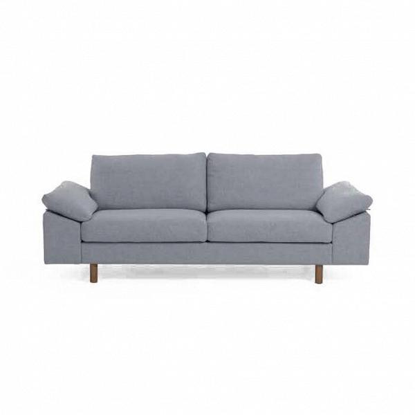Диван GracieДвухместные<br>Это очень приветливое и «воздушное» изделие, которое преобразит интерьер любой комнаты и сместит акценты в светлую, дружелюбную сторону. Отличительная особенность дивана Gracie — его уютные подушки, на которые так и хочется присесть и отдохнуть.<br><br><br> Диван Gracie радует и материалами, из которых он изготовлен. Обивка изделия сшита из натуральной хлопково-льняной ткани, такая мягкая мебель способна сделать уютным любое жилище. Каркас и ножки дивана изготовлены из массива орехового дерева...<br><br>stock: 0<br>Высота: 80,5<br>Высота сиденья: 44<br>Глубина: 89<br>Длина: 210<br>Цвет ножек: Орех<br>Материал ножек: Массив ореха<br>Материал обивки: Шерсть, Нейлон<br>Коллекция ткани: T Fabric<br>Тип материала обивки: Ткань<br>Тип материала ножек: Дерево<br>Цвет обивки: Голубой