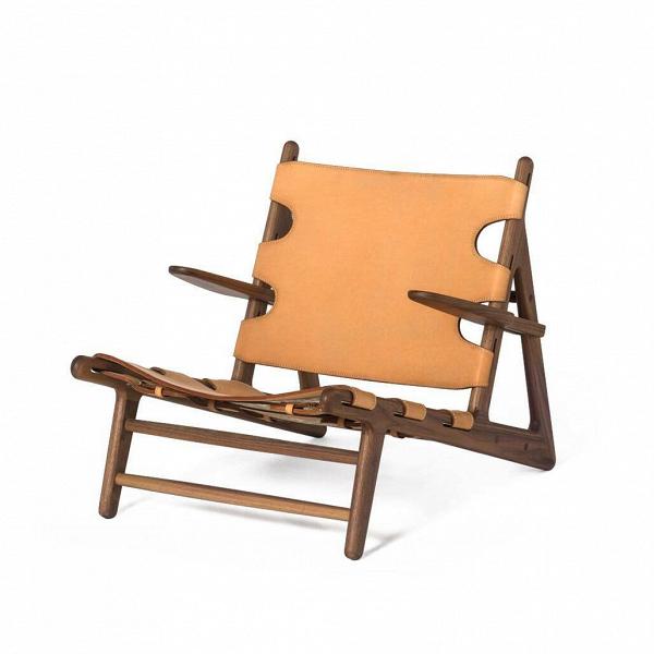 Кресло HuntingИнтерьерные<br><br><br>stock: 0<br>Высота: 68<br>Высота сиденья: 29<br>Ширина: 71<br>Глубина: 29<br>Материал каркаса: Массив ореха<br>Тип материала каркаса: Дерево<br>Цвет сидения: Песочный<br>Тип материала сидения: Кожа<br>Цвет каркаса: Орех