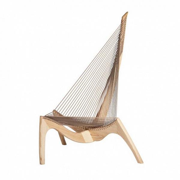 Кресло HarpИнтерьерные<br><br><br>stock: 0<br>Высота: 134<br>Высота сиденья: 39,5<br>Ширина: 104<br>Глубина: 109<br>Материал каркаса: Массив клена<br>Тип материала каркаса: Дерево<br>Цвет сидения: Серый<br>Тип материала сидения: Корд бумажный<br>Цвет каркаса: Светло-коричневый