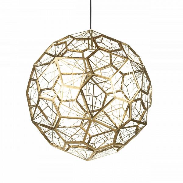 Подвесной светильник Etch Web диаметр 65Подвесные<br>ETCH WEBВ— это лампа необычной открытой структуры сВбольшим абажуром размером 65Всм, отбрасывающая угловатые, острые тени. Экспериментальная структура лампы представляет собой пятиугольник неправильной формы, который повторяется 60 раз вокруг центральной оси, создавая общую сферу.<br><br><br> Лампа вВкаком-то смысле представляет собой еще один эксперимент дизайнера. Светильник ETCH WEB выполнен изВнержавеющей стали вВзолоте иВхроме.<br><br>stock: 0<br>Высота: 180<br>Диаметр: 65<br>Количество ламп: 1<br>Материал абажура: Нержавеющая сталь<br>Мощность лампы: 60<br>Ламп в комплекте: Нет<br>Напряжение: 220<br>Тип лампы/цоколь: E27<br>Цвет абажура: Золотой<br>Дизайнер: Tom Dixon