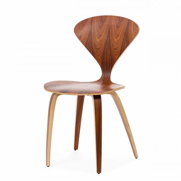 Стул ChernerИнтерьерные<br>Дизайнерский утонченный деревянный стул Cherner (Чернер) на тонких ножках без подлокотников от Cosmo (Космо).<br><br>     Американский дизайнер Норман Чернер с 1947 по 1949 год проработал вВМузее современного искусства в Нью-Йорке, гдеВдосконально изучил труды идеологов баухауса, и в своих творениях решил следовать их заветам — создавать недорогую удобную мебель, которую мог бы себе позволить каждый. Он одним из первых стал применять фанеру — недорогой и легкий материал, и вВ1958 г...<br><br>stock: 0<br>Высота: 81,5<br>Высота сиденья: 44,5<br>Ширина: 46<br>Глубина: 52<br>Материал каркаса: Фанера, шпон розового дерева<br>Тип материала каркаса: Дерево<br>Цвет каркаса: Коричневый<br>Дизайнер: Norman Cherner
