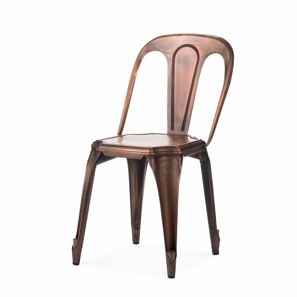 Стул Marais Vintage WoodИнтерьерные<br>Дизайнерский легкий стул Marais Vintage Wood (Мэрейс Винтаж Вуд) из стали простой формы с металлическим цветом от Cosmo (Космо).<br><br> Стул Marais Vintage Wood сочетает в себе черты, которые должны быть у каждого предмета мебели: максимум комфорта, универсальности, практичности и оригинальный дизайн. Такая мебель никогда не выходит из моды, став ее неотъемлемой частью. Вы можете поставить этот стул в офисном лофте, а можете выбрать его для своей столовой в скандинавском стиле или для веранды на...<br><br>stock: 38<br>Высота: 80<br>Высота сиденья: 45<br>Ширина: 42<br>Глубина: 53<br>Тип материала каркаса: Сталь<br>Материал сидения: Массив дуба<br>Цвет сидения: Дуб<br>Тип материала сидения: Дерево<br>Цвет каркаса: Медь антикварная<br>Дизайнер: Xavier Pauchard