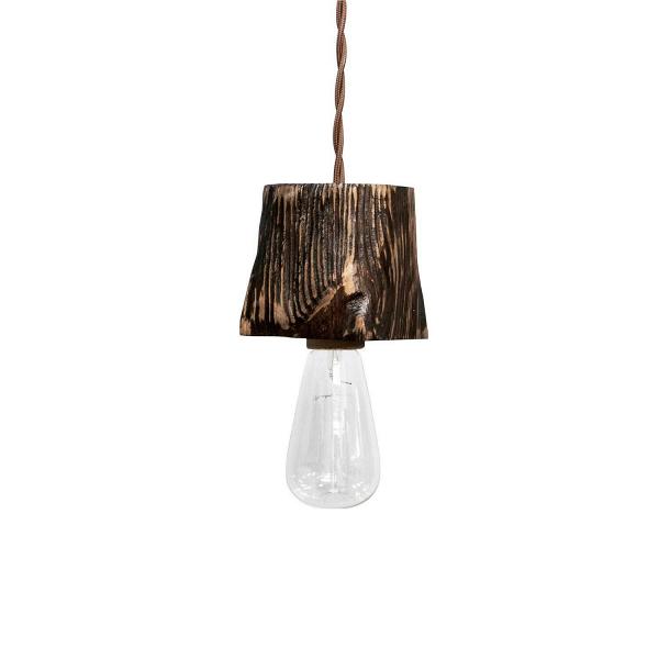 Подвесной светильник Querk 1Подвесные<br><br><br>stock: 0<br>Высота: 10<br>Ширина: 10<br>Длина: 10<br>Длина провода: 130<br>Количество ламп: 1<br>Материал абажура: Сосна<br>Мощность лампы: 40<br>Ламп в комплекте: Нет<br>Напряжение: 230<br>Тип лампы/цоколь: E27<br>Тип производства: Ручное производство<br>Цвет абажура: Палисандр<br>Цвет провода: Коричневый