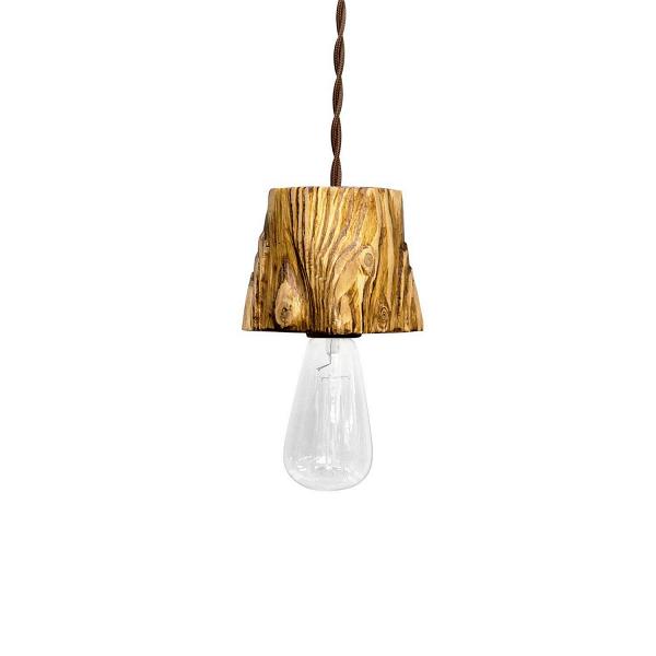 Подвесной светильник Querk 1Подвесные<br><br><br>stock: 1<br>Высота: 10<br>Ширина: 10<br>Длина: 10<br>Длина провода: 130<br>Количество ламп: 1<br>Материал абажура: Сосна<br>Мощность лампы: 40<br>Ламп в комплекте: Нет<br>Напряжение: 230<br>Тип лампы/цоколь: E27<br>Тип производства: Ручное производство<br>Цвет абажура: Дуб<br>Цвет провода: Коричневый