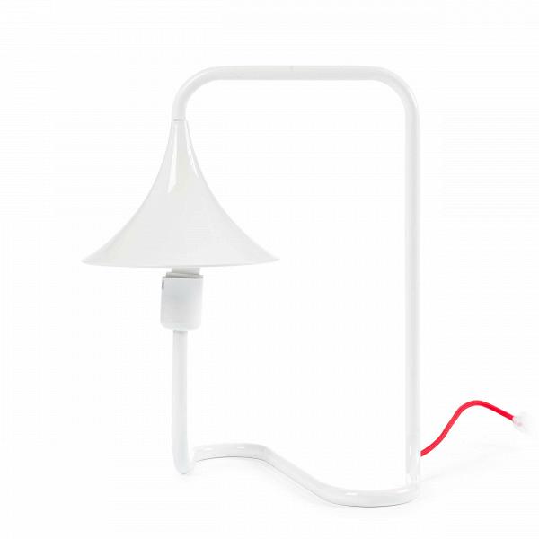 Настольный светильник SelfНастольные<br>Дизайнерский белый настольный светильник Self (Сэлф) в стиле модерн с красным проводом от Cosmo (Космо).<br><br><br> Эта лампа как будто запуталась сама вВсебе, вВсвоих зигзагах иВизгибах. НоВэто сВкакой стороны посмотреть. Стальные трубы, изВкоторых сделан светильник, изогнуты сВбольшим умом иВфантазией, так, что иллюзия единой линии лампы иВкаркаса весьма очевидна.<br><br><br> Оригинальный настольный светильник Self предназначен для настоящих иллюзионисто...<br><br>stock: 2<br>Высота: 40<br>Ширина: 26<br>Длина: 33<br>Количество ламп: 1<br>Материал арматуры: Металл<br>Мощность лампы: 40<br>Ламп в комплекте: Нет<br>Напряжение: 220<br>Тип лампы/цоколь: E27<br>Цвет арматуры: Белый