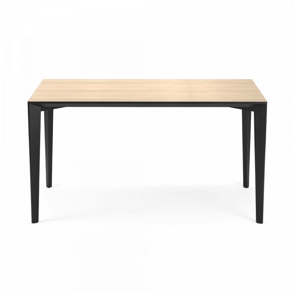 Обеденный стол Statt длина 120Обеденные<br><br><br>stock: 0<br>Высота: 74<br>Ширина: 70<br>Длина: 120<br>Цвет столешницы: Светло-коричневый<br>Материал каркаса: Массив ясеня<br>Тип материала каркаса: Дерево<br>Цвет каркаса: Черный