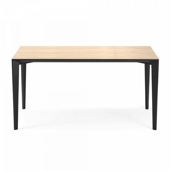 Обеденный стол Statt длина 140Обеденные<br><br><br>stock: 0<br>Высота: 74<br>Ширина: 78<br>Длина: 140<br>Цвет столешницы: Светло-коричневый<br>Материал каркаса: Массив ясеня<br>Тип материала каркаса: Дерево<br>Цвет каркаса: Черный