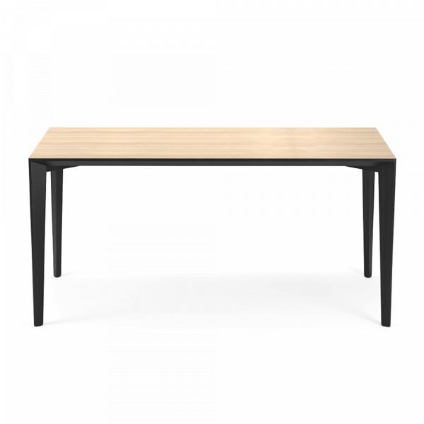 Обеденный стол Statt длина 160Обеденные<br><br><br>stock: 0<br>Высота: 74<br>Ширина: 84<br>Длина: 160<br>Цвет столешницы: Светло-коричневый<br>Материал каркаса: Массив ясеня<br>Тип материала каркаса: Дерево<br>Цвет каркаса: Черный