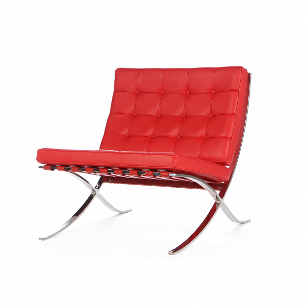 Кресло Barcelona 2Интерьерные<br>Дизайнерское стильное кожаное широкое кресло Barcelona 2 (Барселона 2) с металлическими ножками от Cosmo (Космо).<br><br>Как так могло получиться, что стул, созданный 80 лет назад, до сих пор остается для современной мебели культовым предметом? Давно забытое старое как обычно становится трендом.<br> <br> Дизайн кресла Barcelona 2 был результатом сотрудничества Лили Рейх и Людвига Миса ван дер Роэ. В 1960-е годы это кресло заняло свое заслуженное и почетное место в кабинетах банков, крупных компаний...<br><br>stock: 4<br>Высота: 78<br>Высота сиденья: 43<br>Ширина: 76,5<br>Глубина: 77<br>Тип материала каркаса: Сталь нержавеющя<br>Цвет сидения: Красный<br>Тип материала сидения: Кожа<br>Коллекция ткани: Standart Leather<br>Цвет каркаса: Хром<br>Дизайнер: Ludwig Mies van der Rohe