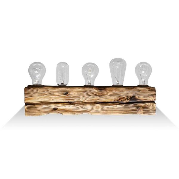 Настенный светильник Cube 5Настенные<br><br><br>stock: 0<br>Высота: 10<br>Ширина: 10<br>Длина: 50<br>Количество ламп: 5<br>Материал абажура: Сосна<br>Мощность лампы: 40<br>Ламп в комплекте: Нет<br>Напряжение: 220<br>Тип лампы/цоколь: E27<br>Тип производства: Ручное производство<br>Цвет абажура: Натуральный