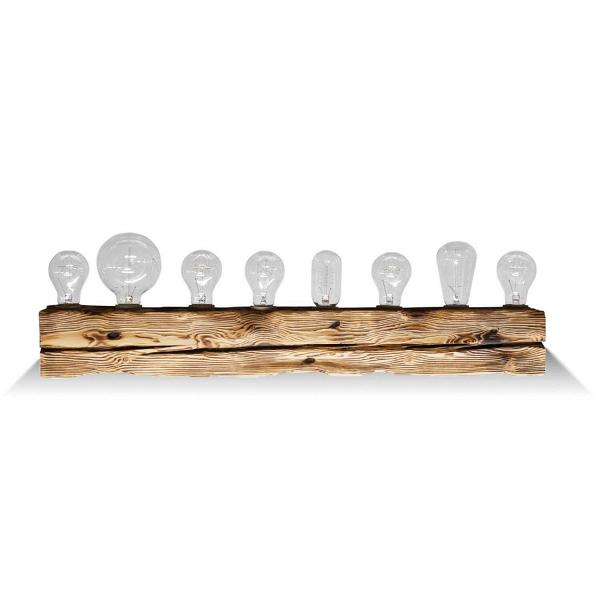 Настенный светильник Cube 8Настенные<br><br><br>stock: 0<br>Высота: 10<br>Ширина: 10<br>Длина: 80<br>Количество ламп: 8<br>Материал абажура: Сосна<br>Мощность лампы: 40<br>Ламп в комплекте: Нет<br>Напряжение: 220<br>Тип лампы/цоколь: E27<br>Тип производства: Ручное производство<br>Цвет абажура: Натуральный