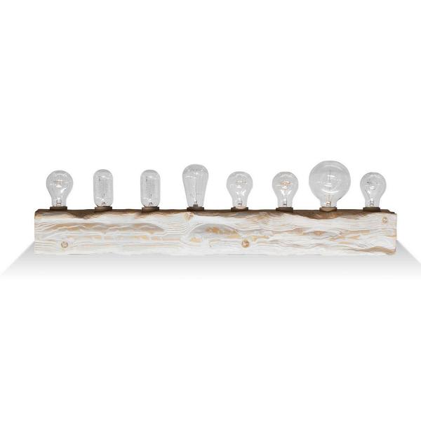 Настенный светильник Cube 8Настенные<br><br><br>stock: 0<br>Высота: 10<br>Ширина: 10<br>Длина: 80<br>Количество ламп: 8<br>Материал абажура: Сосна<br>Мощность лампы: 40<br>Ламп в комплекте: Нет<br>Напряжение: 220<br>Тип лампы/цоколь: E27<br>Тип производства: Ручное производство<br>Цвет абажура: Белый