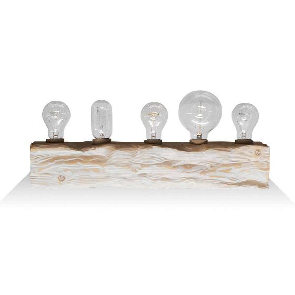Настенный светильник Cube 5Настенные<br><br><br>stock: 0<br>Высота: 10<br>Ширина: 10<br>Длина: 50<br>Количество ламп: 5<br>Материал абажура: Сосна<br>Мощность лампы: 40<br>Ламп в комплекте: Нет<br>Напряжение: 220<br>Тип лампы/цоколь: E27<br>Тип производства: Ручное производство<br>Цвет абажура: Белый