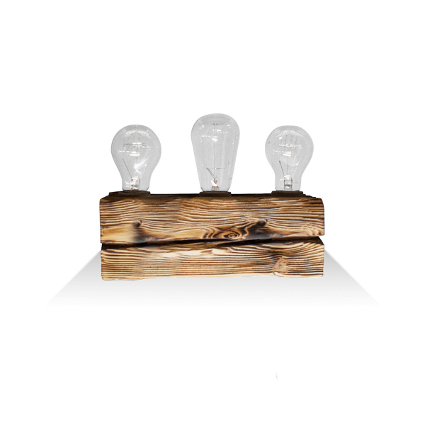 Настенный светильник Cube 3Настенные<br><br><br>stock: 0<br>Высота: 10<br>Ширина: 10<br>Длина: 30<br>Количество ламп: 3<br>Материал абажура: Сосна<br>Мощность лампы: 40<br>Ламп в комплекте: Нет<br>Напряжение: 230<br>Тип лампы/цоколь: E27<br>Тип производства: Ручное производство<br>Цвет абажура: Натуральный