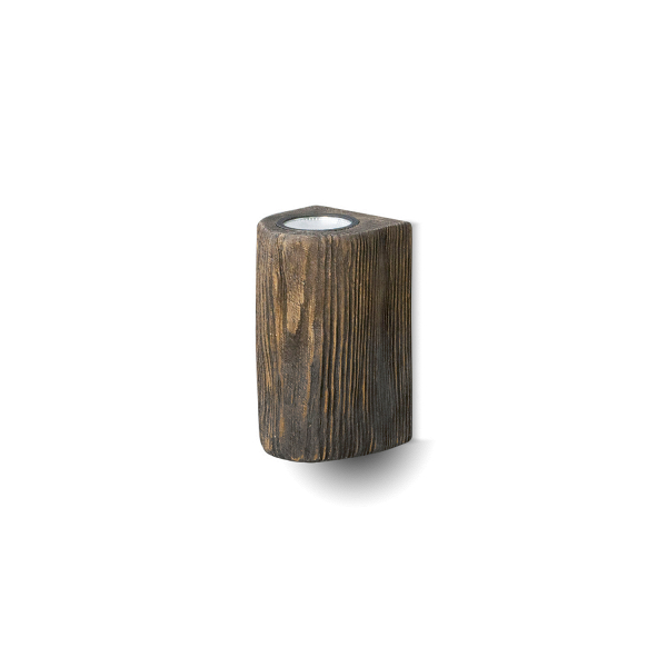 Настенный светильник DoubleНастенные<br><br><br>stock: 0<br>Высота: 20<br>Ширина: 10<br>Длина: 10<br>Количество ламп: 2<br>Материал абажура: Сосна<br>Мощность лампы: 5<br>Ламп в комплекте: Да<br>Напряжение: 230<br>Тип лампы/цоколь: GU10<br>Тип производства: Ручное производство<br>Цвет абажура: Палисандр