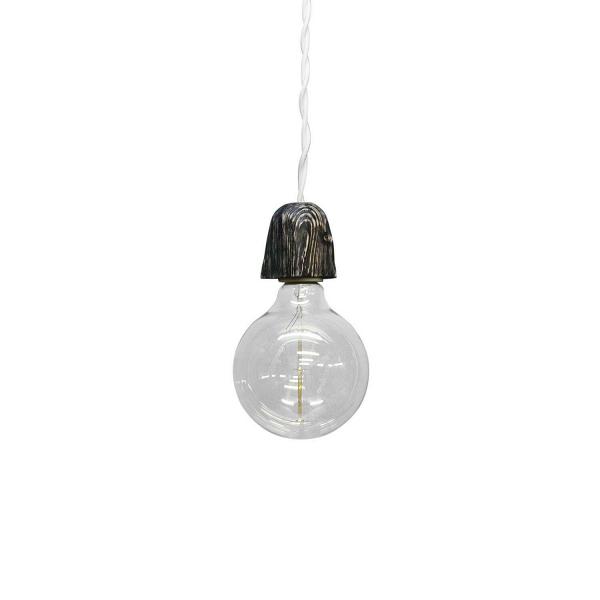 Подвесной светильник ZoccoloПодвесные<br><br><br>stock: 0<br>Диаметр: 10<br>Длина провода: 130<br>Количество ламп: 1<br>Материал абажура: Сосна<br>Мощность лампы: 40<br>Ламп в комплекте: Да<br>Напряжение: 230<br>Тип лампы/цоколь: E27<br>Тип производства: Ручное производство<br>Цвет абажура: Графит<br>Цвет провода: Белый