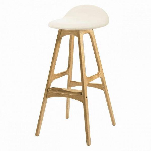 Барный стул Buch 3Барные<br>Дизайнерский барный стул Buch (Буш) без подлокотников на деревянных ножках от Cosmo (Космо).<br> Высокий барный стул Buch 3 создан еще вВ1960 году дизайнером Эриком Буком, который посвятил всю свою жизнь дизайну и архитектуре. У Эрика Бука было свыше 30 коммерчески успешных дизайн-проектов, среди которых самым успешным стал именно этот барный стул, который нашел свое место в миллионах домов по всему миру. Сегодня же стулья, сконструированные Эриком Буком, по-прежнему производятся на фабри...<br><br>stock: 0<br>Высота: 85,5<br>Высота сиденья: 75<br>Ширина: 40<br>Глубина: 45<br>Цвет ножек: Белый дуб<br>Материал ножек: Массив дуба<br>Цвет сидения: Белый<br>Тип материала сидения: Кожа<br>Коллекция ткани: Standart Leather<br>Тип материала ножек: Дерево<br>Дизайнер: Erik Buch
