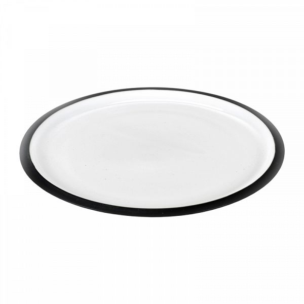тарелка LOVATT (B6015128)Посуда<br>Артикул: B6015128. Предпочитаете окружать себя качественными дизайнерскими предметами? Значит, тарелка LOVATT – предмет must have для вас. Роскошь костяного фарфора подчеркивается сдержанностью дизайна в монохромных цветах. Составьте столовый сервиз на свой вкус, используя посуду из этой серии. Если вдруг какой-либо из элементов набора разобьется – не беда. Их всегда можно докупить в нашем интернет-магазине. Дизайн: Serax, Бельгия.<br><br>stock: 20<br>Высота: 2<br>Материал: фарфор костяной<br>Цвет: Черный<br>Размер: None<br>Диаметр: 25<br>Страна происхождения: Бельгия