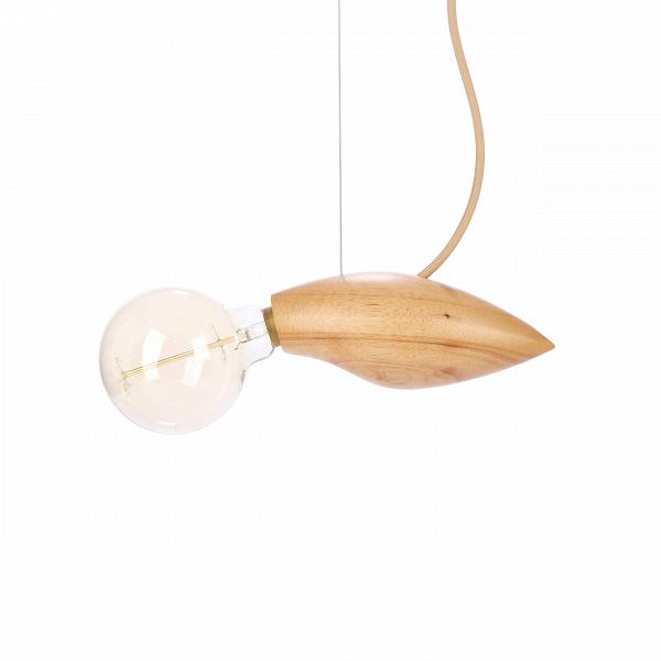 Подвесной светильник Squid длина 24Подвесные<br>Известный шведский дизайнер, выходец из Курдистана Джангир Маддади создал весьма оригинальный и интересный светильник, который непременно порадует ценителей и любителей нестандартных предметов домашнего освещения и декора. Подвесной светильник Squid длина 24 имеет очень небольшие размеры, а сочетание материалов позволяет вам использовать его в самых разных интерьерах, от стильного современного до более традиционных.<br><br><br> Светильник изготовлен из натуральной высококачественной древесины ...<br><br>stock: 9<br>Высота: 200<br>Ширина: 9,5<br>Длина: 24<br>Количество ламп: 1<br>Материал абажура: Дерево<br>Мощность лампы: 40<br>Ламп в комплекте: Нет<br>Напряжение: 220<br>Тип лампы/цоколь: E14<br>Цвет абажура: Бежевый<br>Цвет провода: Бежевый