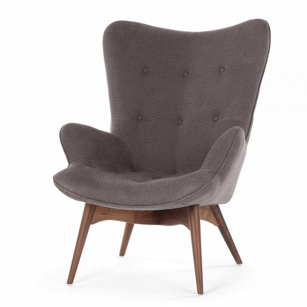 Кресло Contour 2Интерьерные<br>Дизайнерское глубокое кресло Contour 2 (Кантур 2) обивкой из ткани на деревянных ножках от Cosmo (Космо).<br><br><br> Австралийцы любят хороший дизайн воВвсем, отВоформления винных бочонков доВсерферных досок. Одним изВсамых ярких дизайнеров стал художник Грант Фезерстон, который начал заниматься дизайном в сороковых годах прошлого столетия иВсВтех пор стал иконой стиля воВвсем мире.<br><br><br> Идеальное как для прихожей, так иВдля гостиной, оригинальное кресл...<br><br>stock: 0<br>Высота: 91<br>Высота сиденья: 37<br>Ширина: 73,5<br>Глубина: 83<br>Цвет ножек: Орех американский<br>Материал ножек: Массив ореха<br>Материал обивки: Хлопок<br>Коллекция ткани: Charles Fabric<br>Тип материала обивки: Ткань<br>Тип материала ножек: Дерево<br>Цвет обивки: Темно-серый<br>Дизайнер: Grant Featherston