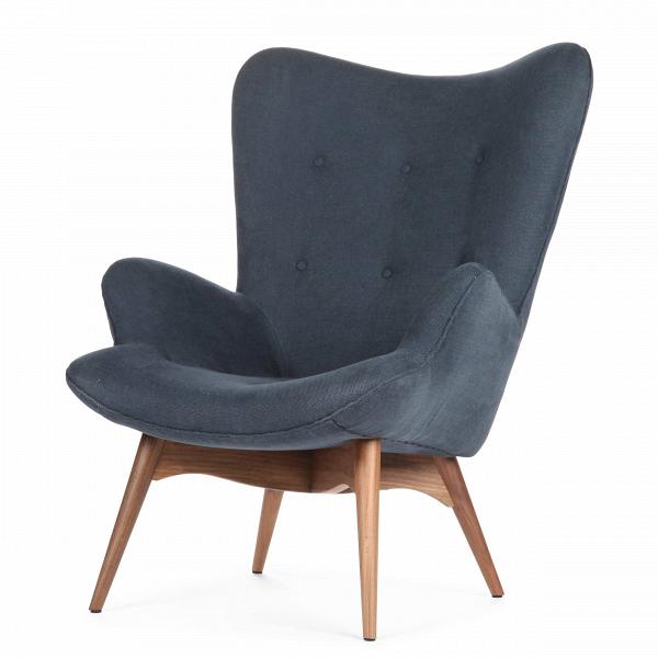 Кресло Contour 2Интерьерные<br>Дизайнерское глубокое кресло Contour 2 (Кантур 2) обивкой из ткани на деревянных ножках от Cosmo (Космо).<br><br><br> Австралийцы любят хороший дизайн воВвсем, отВоформления винных бочонков доВсерферных досок. Одним изВсамых ярких дизайнеров стал художник Грант Фезерстон, который начал заниматься дизайном в сороковых годах прошлого столетия иВсВтех пор стал иконой стиля воВвсем мире.<br><br><br> Идеальное как для прихожей, так иВдля гостиной, оригинальное кресл...<br><br>stock: 0<br>Высота: 91<br>Высота сиденья: 37<br>Ширина: 73,5<br>Глубина: 83<br>Цвет ножек: Орех американский<br>Материал ножек: Массив ореха<br>Материал обивки: Хлопок<br>Коллекция ткани: Charles Fabric<br>Тип материала обивки: Ткань<br>Тип материала ножек: Дерево<br>Цвет обивки: Тёмно-синий<br>Дизайнер: Grant Featherston