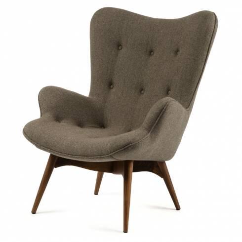 Кресло Contour 2Интерьерные<br>Дизайнерское глубокое кресло Contour 2 (Кантур 2) обивкой из ткани на деревянных ножках от Cosmo (Космо).<br><br><br> Австралийцы любят хороший дизайн воВвсем, отВоформления винных бочонков доВсерферных досок. Одним изВсамых ярких дизайнеров стал художник Грант Фезерстон, который начал заниматься дизайном в сороковых годах прошлого столетия иВсВтех пор стал иконой стиля воВвсем мире.<br><br><br> Идеальное как для прихожей, так иВдля гостиной, оригинальное кресл...<br><br>stock: 0<br>Высота: 91<br>Высота сиденья: 37<br>Ширина: 73,5<br>Глубина: 83<br>Цвет ножек: Орех американский<br>Материал ножек: Массив ореха<br>Материал обивки: Шерсть, Нейлон<br>Коллекция ткани: T Fabric<br>Тип материала обивки: Ткань<br>Тип материала ножек: Дерево<br>Цвет обивки: Серо-коричневый<br>Дизайнер: Grant Featherston