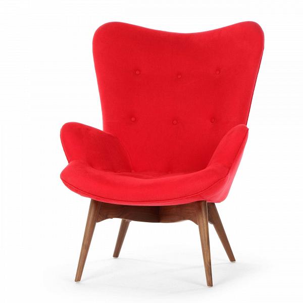 Кресло Contour 2Интерьерные<br>Дизайнерское глубокое кресло Contour 2 (Кантур 2) обивкой из ткани на деревянных ножках от Cosmo (Космо).<br><br><br> Австралийцы любят хороший дизайн воВвсем, отВоформления винных бочонков доВсерферных досок. Одним изВсамых ярких дизайнеров стал художник Грант Фезерстон, который начал заниматься дизайном в сороковых годах прошлого столетия иВсВтех пор стал иконой стиля воВвсем мире.<br><br><br> Идеальное как для прихожей, так иВдля гостиной, оригинальное кресл...<br><br>stock: 0<br>Высота: 91<br>Высота сиденья: 37<br>Ширина: 73,5<br>Глубина: 83<br>Цвет ножек: Орех американский<br>Материал ножек: Массив ореха<br>Материал обивки: Хлопок, Лен<br>Коллекция ткани: Ray Fabric<br>Тип материала обивки: Ткань<br>Тип материала ножек: Дерево<br>Цвет обивки: Красный<br>Дизайнер: Grant Featherston