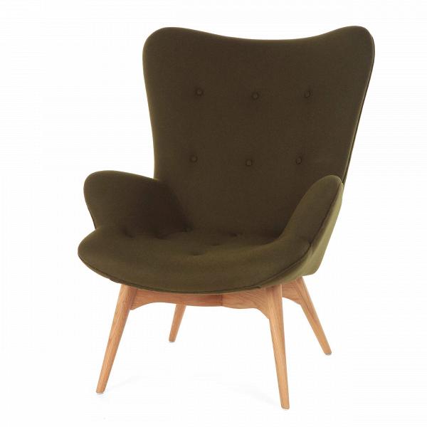 Кресло Contour 2Интерьерные<br>Дизайнерское глубокое кресло Contour 2 (Кантур 2) обивкой из ткани на деревянных ножках от Cosmo (Космо).<br><br><br> Австралийцы любят хороший дизайн воВвсем, отВоформления винных бочонков доВсерферных досок. Одним изВсамых ярких дизайнеров стал художник Грант Фезерстон, который начал заниматься дизайном в сороковых годах прошлого столетия иВсВтех пор стал иконой стиля воВвсем мире.<br><br><br> Идеальное как для прихожей, так иВдля гостиной, оригинальное кресл...<br><br>stock: 0<br>Высота: 91<br>Высота сиденья: 37<br>Ширина: 73,5<br>Глубина: 83<br>Цвет ножек: Дуб<br>Материал ножек: Массив дуба<br>Материал обивки: Шерсть, Нейлон<br>Коллекция ткани: T Fabric<br>Тип материала обивки: Ткань<br>Тип материала ножек: Дерево<br>Цвет обивки: Темно-зеленый<br>Дизайнер: Grant Featherston
